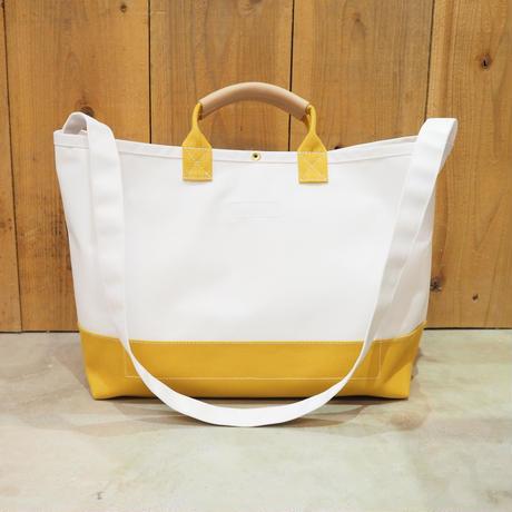 Two Fabrics Bag(ホワイト×マスタード)