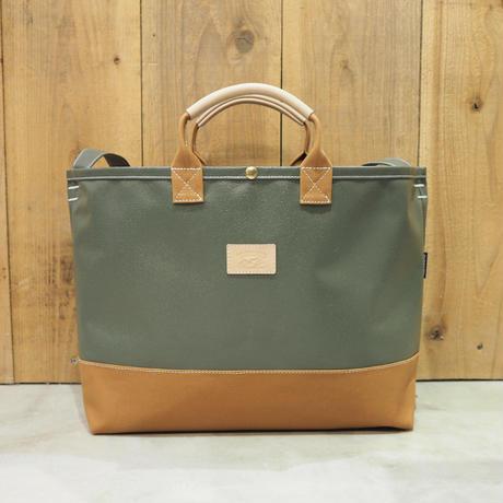 Two Fabrics Bag(カーキ×キャメル)