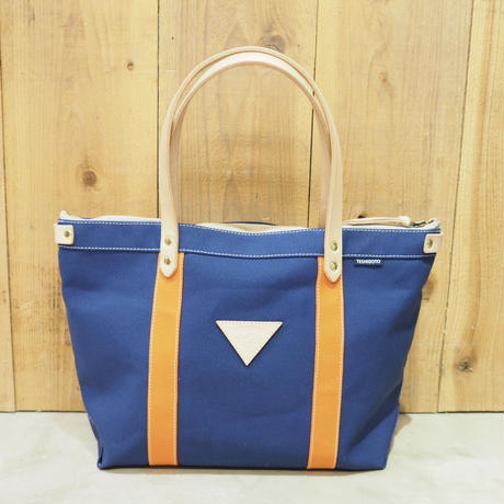 帆布W.L.トート(ブルー×オレンジ×グレー)