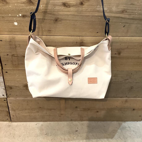 帆布LIFE Bag(ホワイト×ネイビー×レッド)