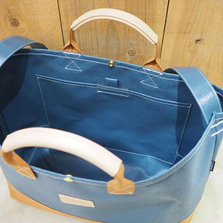 Two Fabrics Bag(ネイビー×キャメル)