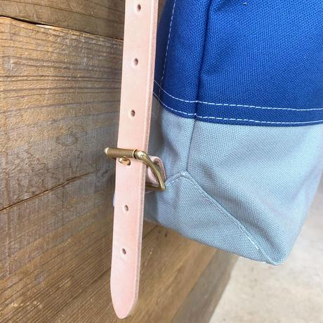 帆布ステンシルリュック(ブルー×グレー×ホワイト)