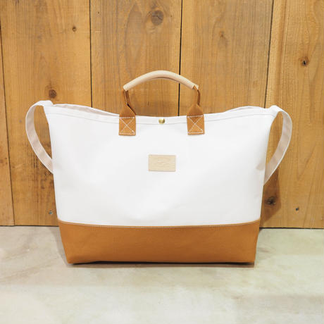 Two Fabrics Bag(ホワイト×キャメル)