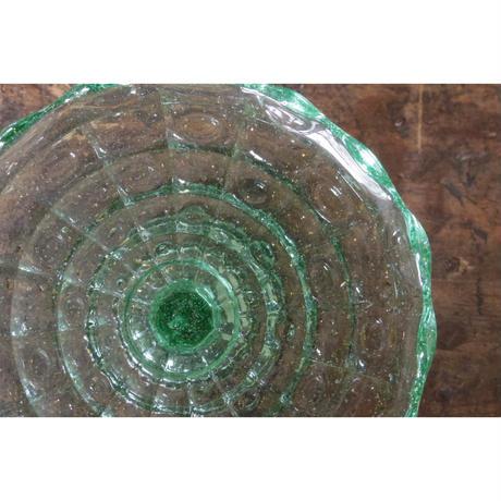 ガラスコンポート グリーン