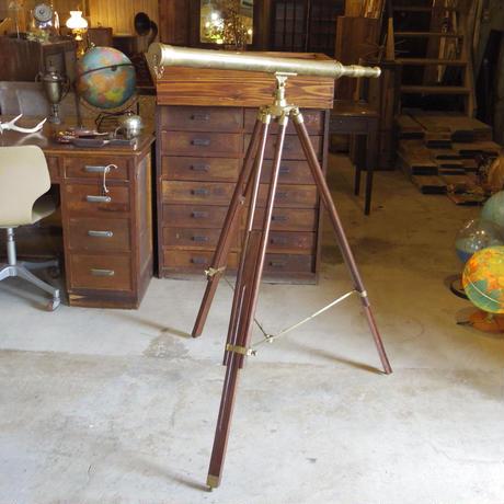 望遠鏡/真鍮/木製