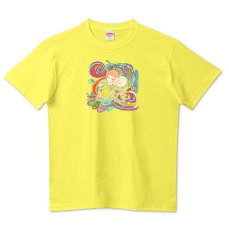 動物たちの遠吠え Tシャツ <枝毛ちゃん>