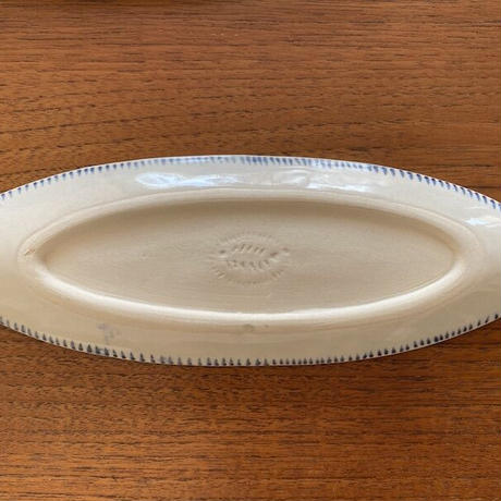 タイ ランプーンセラミックの楕円皿