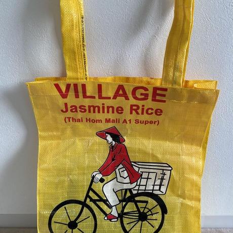 米袋の自転車柄トートバッグ