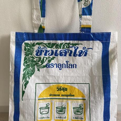 米袋の白地トートバッグ(Lサイズ)