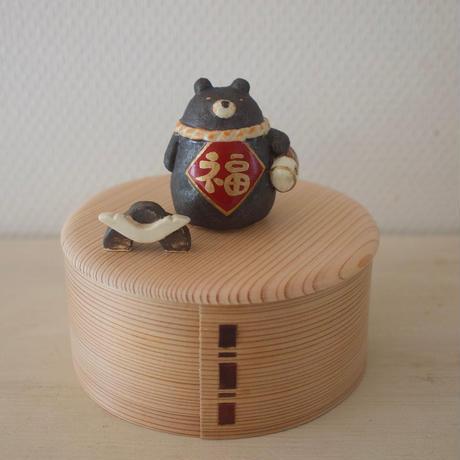 """【 残り1個 】五月人形(博多曲物お箱入り)/Baby gift  """"boxed"""" type"""