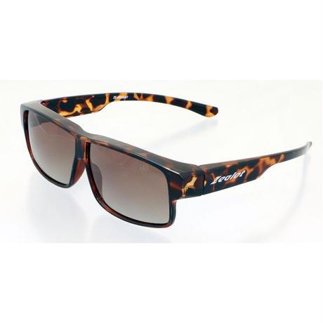 ☆メガネの上にもしっかり掛けられる新型オーバーグラス/ZE-OG06H ジーロット 偏光オーバーグラス(スクエアー&ハーフカラー偏光レンズタイプ)