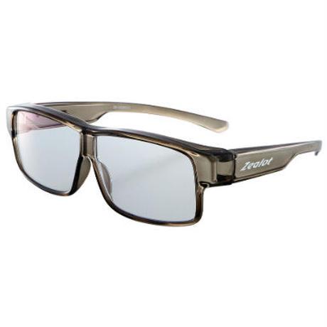 ☆色の濃いレンズが苦手な方に。透明レンズなのにUV&ブルーライトを大幅カット!/ZE-OG06F ジーロット 機能性透明オーバーサングラス