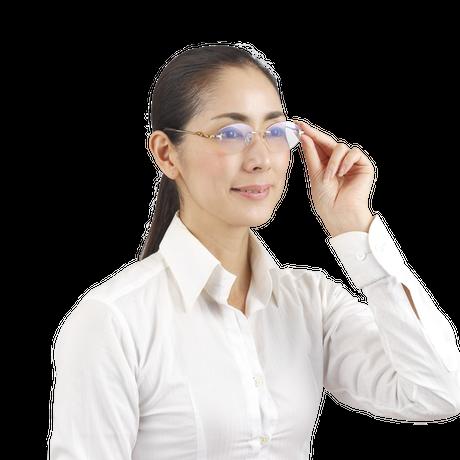 """☆有害な光からしっかりと眼を守る""""掛けて歩ける老眼鏡""""/R-2145RSC Zealot UV&Blue cut 境目の無い累進多焦点遠近両用シニアグラス(婦人用)"""