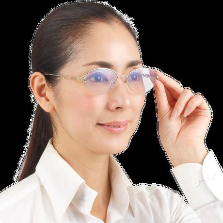 """☆有害な光からしっかりと眼を守る""""掛けて歩ける老眼鏡""""/AW-363RSC Zealot UV&Blue cut 境目の無い累進多焦点遠近両用シニアグラス(婦人用)"""
