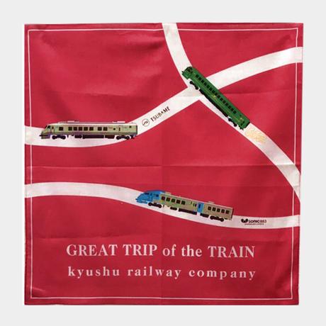 3列車バンダナ(ゆふいんの森・つばめ・ソニック883)<復刻版>赤 【TE018】