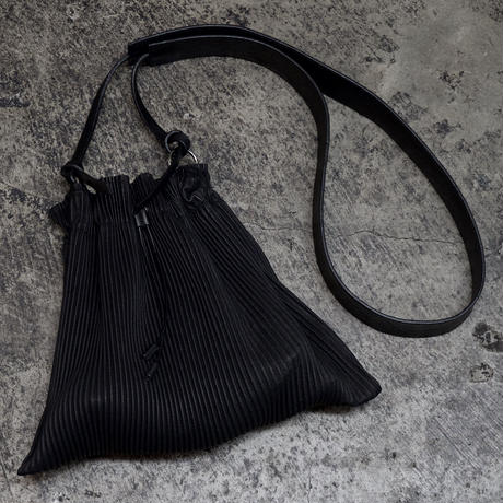 PLEATED LEATHER MINI BAG