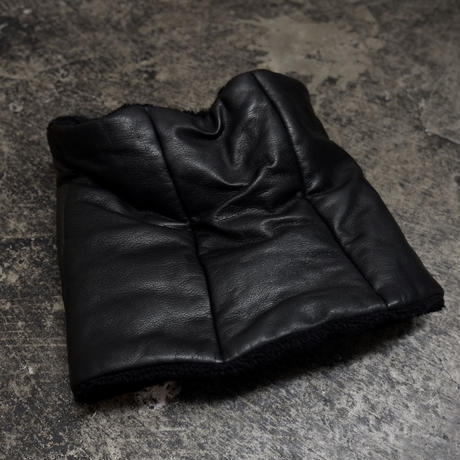 LEATHER / RIB  COMBI SNOOD cow