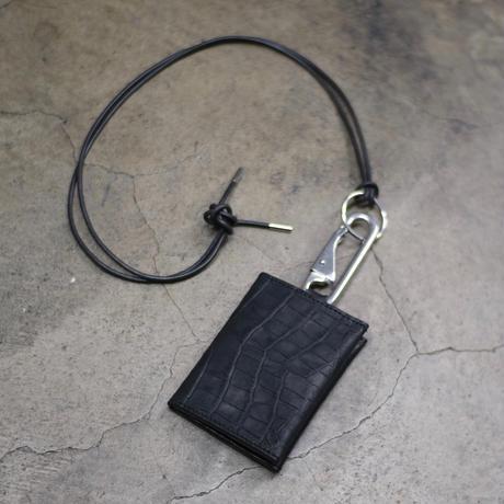 CARD SHOULDER BAG / CROCODILE EMBOSS