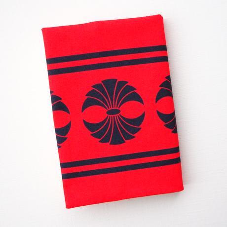 文庫本ブックカバー(束ね熨斗・赤×黒)- Japanese paperback book cover