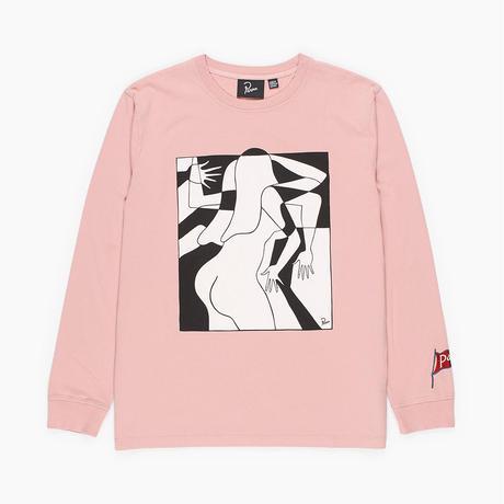 by Parra | long sleeve t-shirt artist businesswoman (rose)