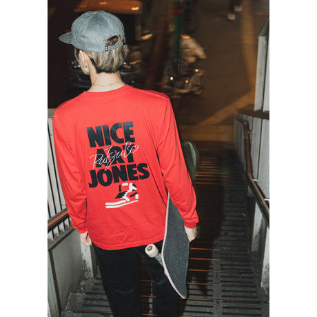 坩堝 | RUTSUBO×ALLRAID NICE ART JONES LS T-SHIRTS (WHITE)