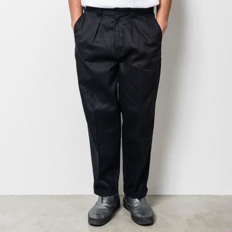 坩堝 | 478 CHINO TUCK PANTS (BLACK)