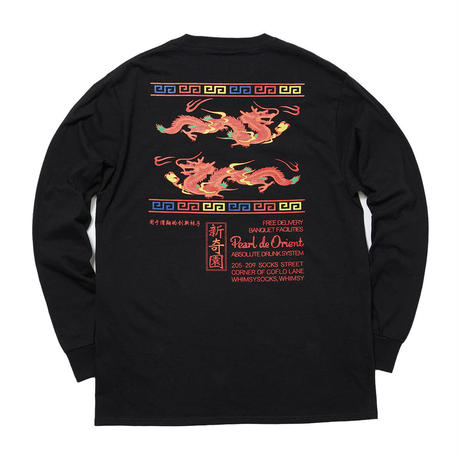 WHIMSY / DRAGON L/S TEE (BLACK)