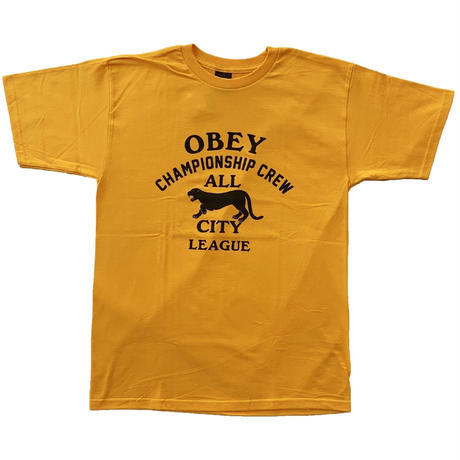 OBEY | OBEY ALL CITY PANTHER TEE (GOLD)