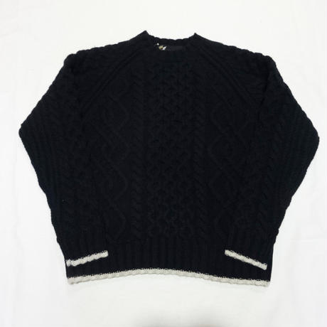 FAT | CABLE SWEATER (NAVY)