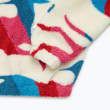 by Parra | jumping foxes sherpa fleece (off white)