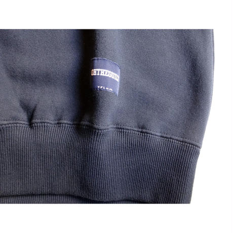 Oh!theuilt:DENIM WAPPEN CREW SWEAT(ネイビー)