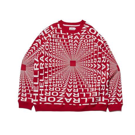 HELLRAZOR / Hellrazor x Down North Camp Gravitate Crew Neck (RED)