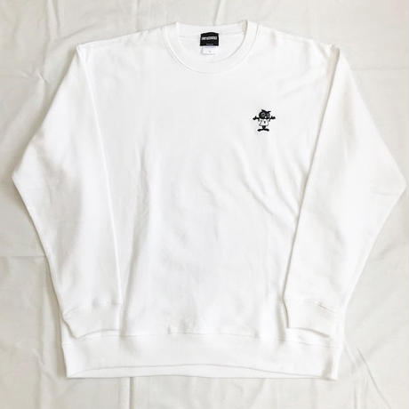 "Oh!theGuilt / W.C Johnny 006:""PASTOR OWL"" CREW SWEAT(ホワイト)"