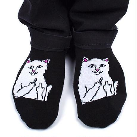 RIPNDIP | LORD NERMAL LOW SOX  (BLACK)