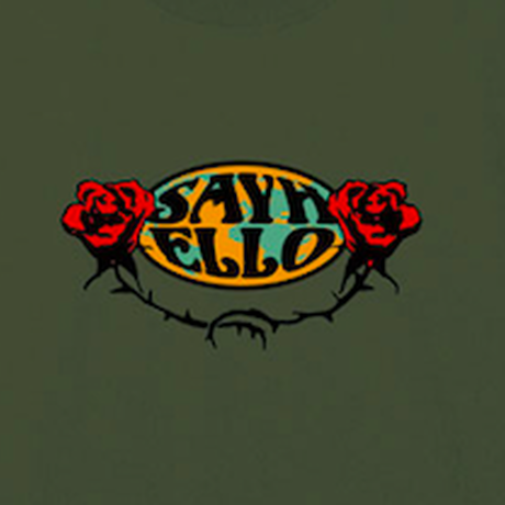 SAYHELLO / Hard Rock L/S Tee (Military Green)