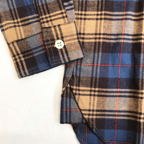 Oh!theGuilt: REAL WORK FLANNEL SHIRT(ベージュ/ブルー)