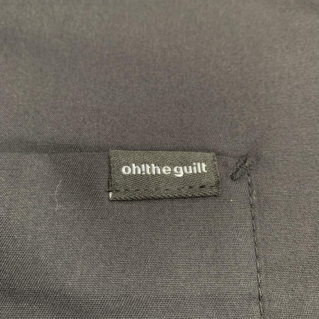 Oh!theGuilt  × LITTLE CHOP DESIGN / L/S OPEN COLLAR WORK SHIRT(ブラック)