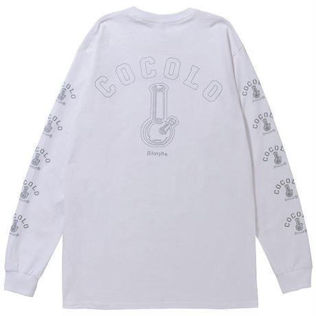 COCOLO BLAND / REFLECTOR BONG SLEEVE L/S TEE(WHITE)