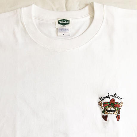 "Oh!theGuilt | timeforlivin' LIMITED ""TACOS MAN"" S/S TEE (ホワイト)"