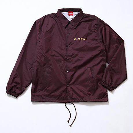 "Oh!theGuilt : ""角"" TSUNO COACH JACKET(バーガンディー)"
