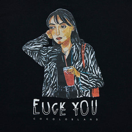 COCOLO BLAND / FUCK & LUV CREW SWEAT (BLACK)