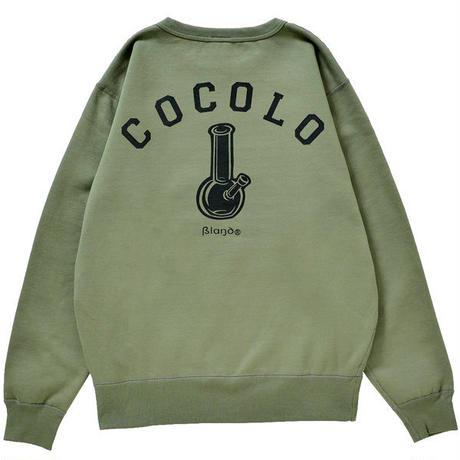 COCOLO BLAND / BACK BONG HEAVY CREWNECK (OLIVE)