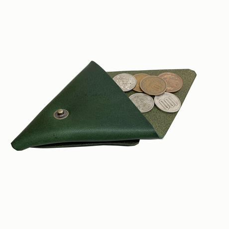 """Oh!theGuilt / """"TRIANGLE""""LEATHER COIN PURSE  (グリーン)"""