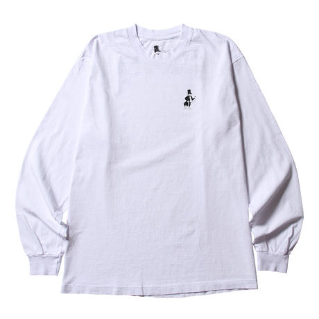 BORN X RAISED / BACKSIDE L/S (WHITE)
