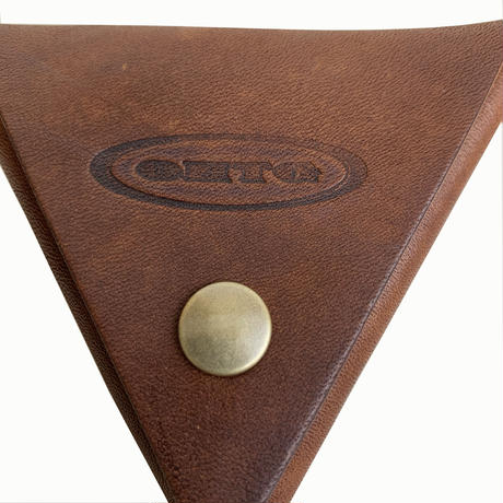 """Oh!theGuilt / """"TRIANGLE""""LEATHER COIN PURSE  (ブラウン)"""