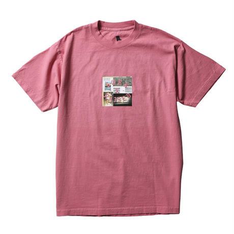 BORN X RAISED / PARTYSQUARE TEE  (ROSE)
