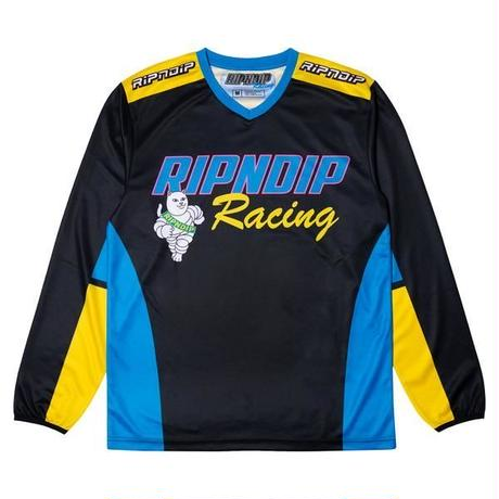RIPNDIP | RACING TEAM L/S JERSEY PRINTED (BLACK)