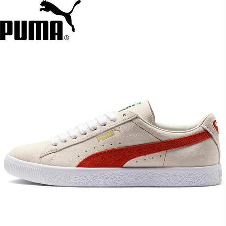 PUMA   SUEDE 90681 (Whisper White/Orange.com/ White)