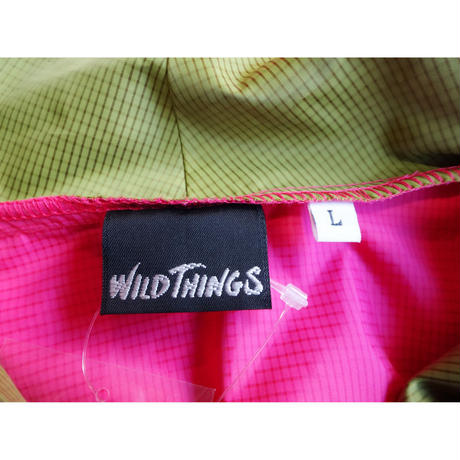 USED(古着)WILD THINGSナイロンジャケット(ピンク/イエロー)