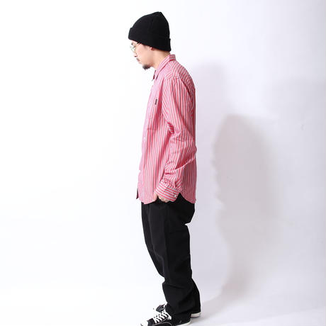 Oh!theGuilt: BIG SILHOUETTE STRIPE SHIRT(レッド)